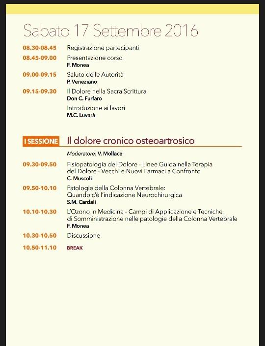 III SIMPOSIO REGIONALE MEDICINA DEL DOLORE. PROGRAMMA