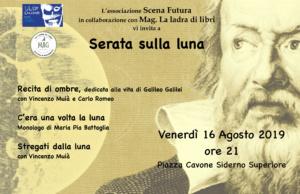 Serata dedicata alla luna con lo spettacolo dell'attore Vincenzo Muià @ piazza Cavone