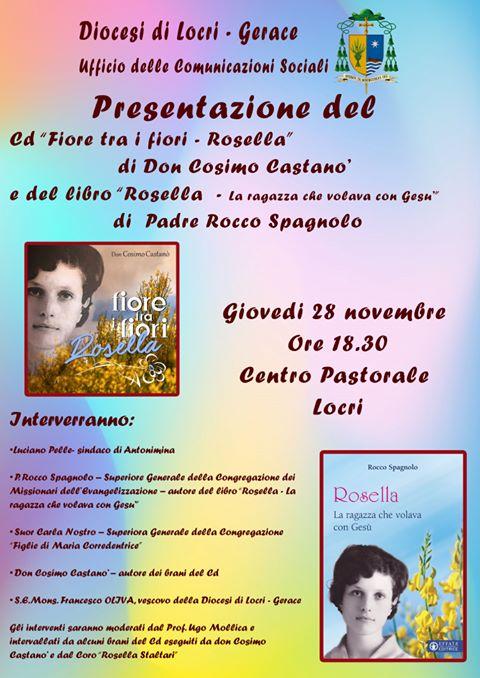 LOCRI (RC): PUBBLICATO IL NUOVO CD DI DON COSIMO CASTANÒ DEDICATO ALLA SERVA DI DIO ROSELLA STALTARI. - Telemia